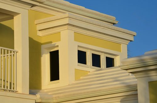 Three White Outswing Casement Windows